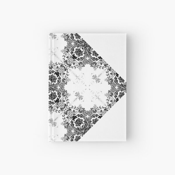 ornament, decor, tracery, garniture, pattern, design, weave Hardcover Journal