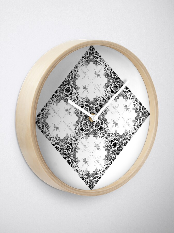 Alternate view of ornament, decor, tracery, garniture, pattern, design, weave Clock