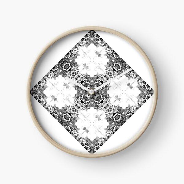ornament, decor, tracery, garniture, pattern, design, weave Clock