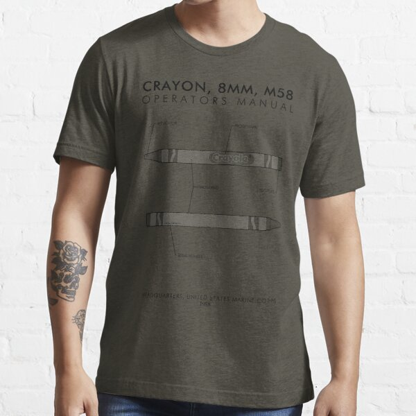 Marine Corps Crayon Operator's Manual Essential T-Shirt