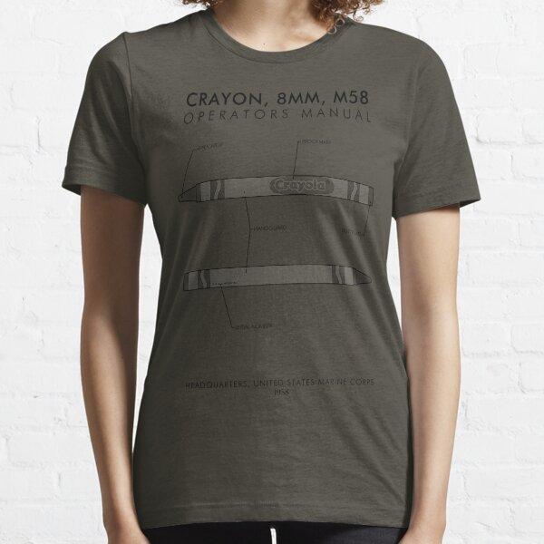 Marine Corps Crayon Operator's Manual Essential T-Shirt