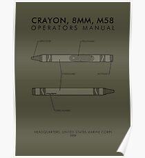 Póster Marine Corps Crayon Manual del operador