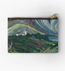Clifftop Walk - Overstrand to Cromer, Norfolk Embroidery - Textile Art Studio Pouch