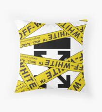 OFF-WHITE STRAPPED Throw Pillow