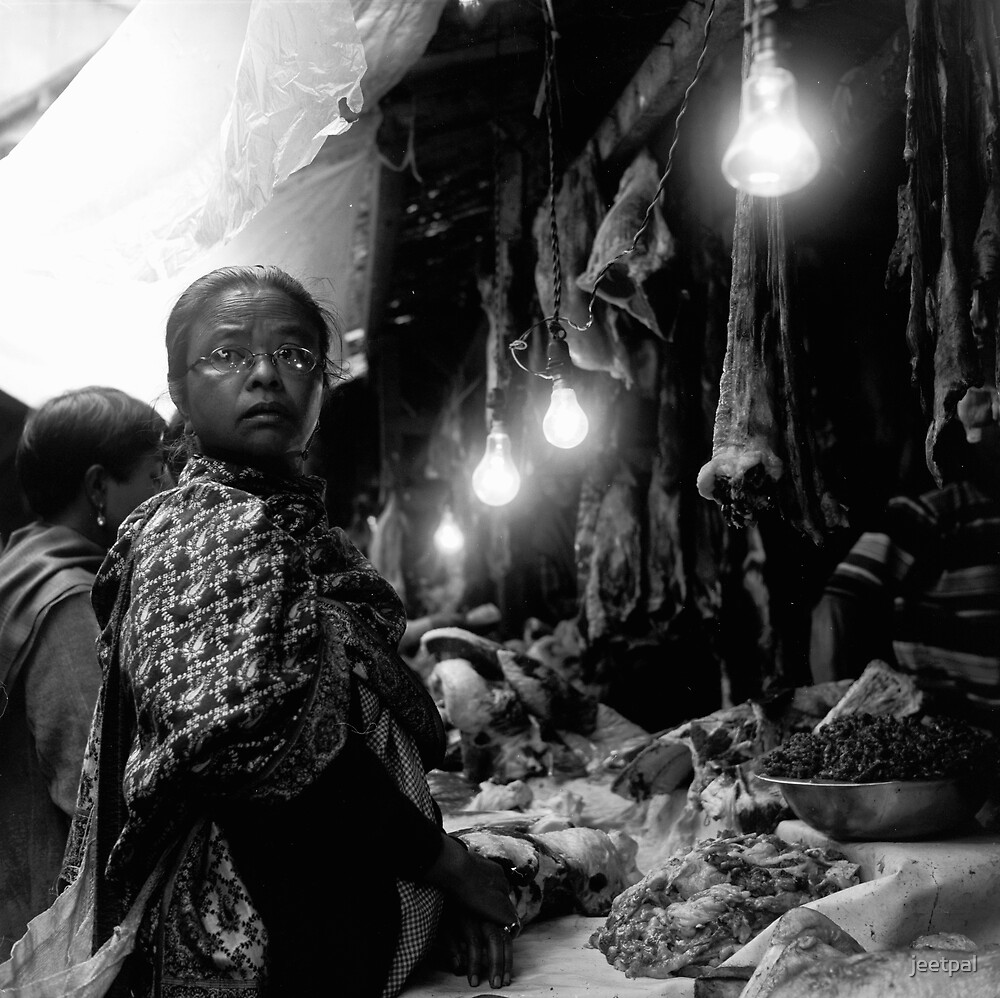 The lady in Pork Market by jeetpal