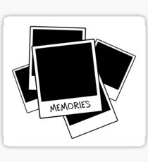 Memories - Polaroid Graphic Design Sticker