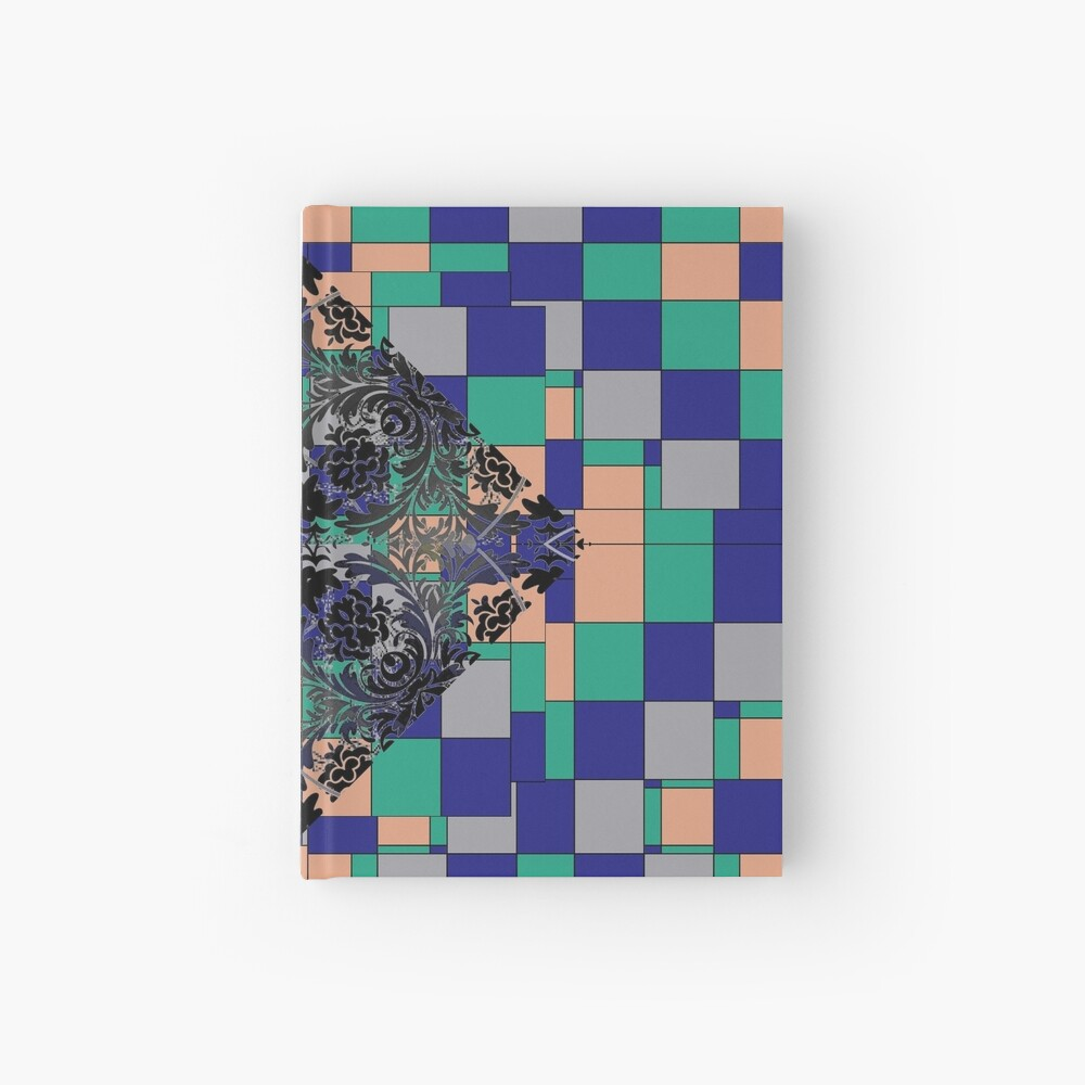 pattern, design, tracery, weave Hardcover Journal