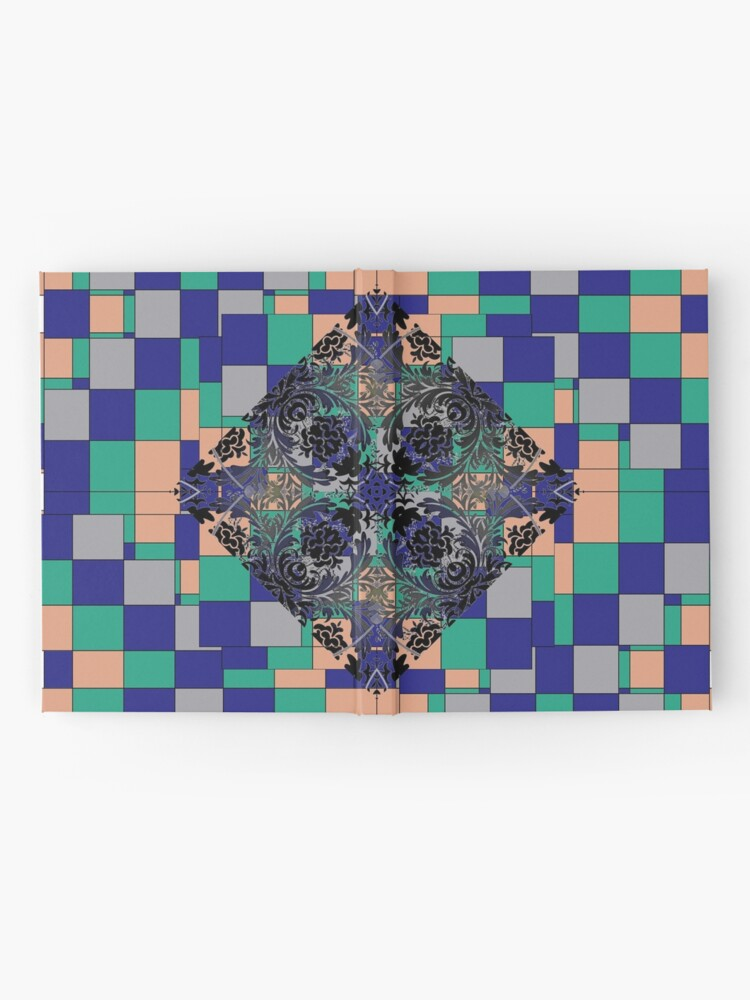 Alternate view of pattern, design, tracery, weave Hardcover Journal