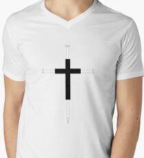Cross of Nails Mens V-Neck T-Shirt