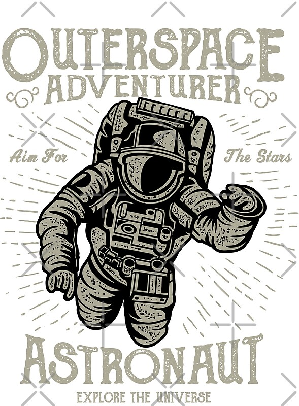 retro astronaut posters - 589×800