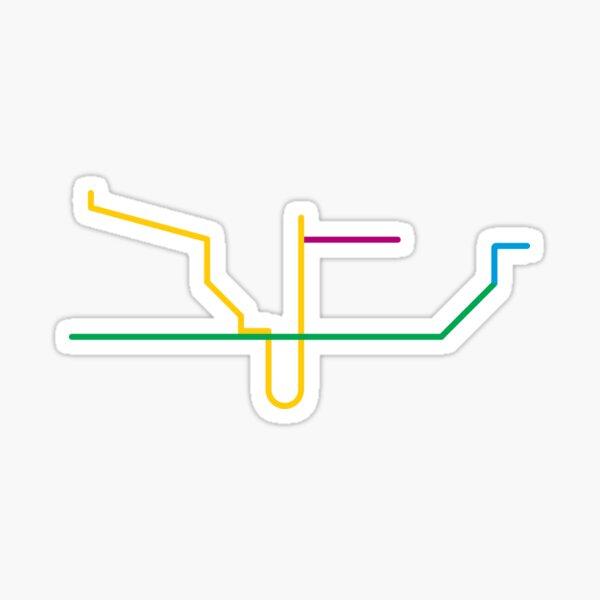 TTC Subway Map Sticker