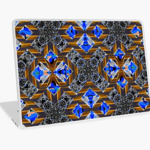 pattern, design, tracery, weave Laptop Skin