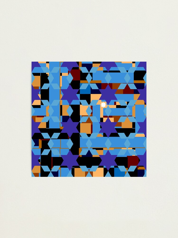 Alternate view of pattern, design, tracery, weave Photographic Print