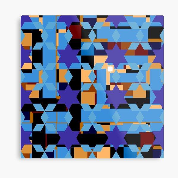 pattern, design, tracery, weave Metal Print