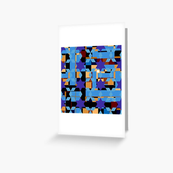 pattern, design, tracery, weave Greeting Card