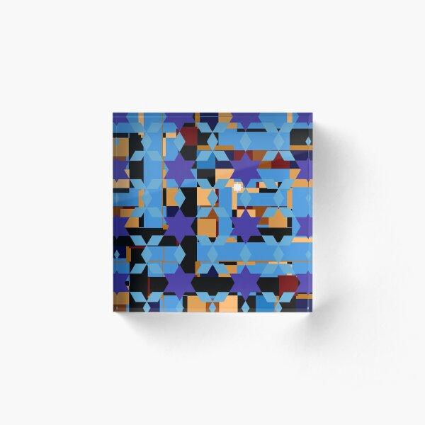 pattern, design, tracery, weave Acrylic Block