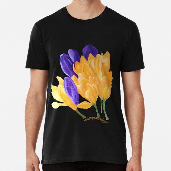 Yellow and purple crocus Premium T-Shirt