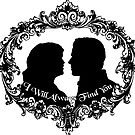 "Snow White and Prince Charming ""I Will Always Find You"" Silhouette Design by Marianne Paluso"