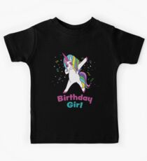 Cute Dabbing Unicorn Magical Rainbow Shirt Kids Tee