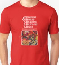 Dungeons & Diners & Dragons & Drive-Ins & Dives: Escape from Flavortown Unisex T-Shirt