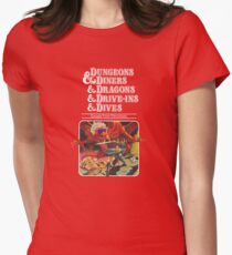 Camiseta entallada para mujer Dungeons & Diners & Dragons & Drive-Ins & Dives: Escape from Flavortown