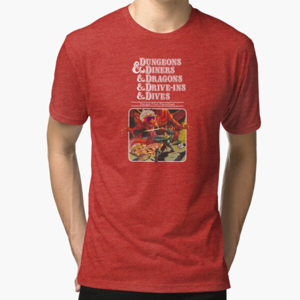 Dungeons & Diners & Dragons & Drive-Ins & Dives: Escape from Flavortown Camiseta de tejido mixto