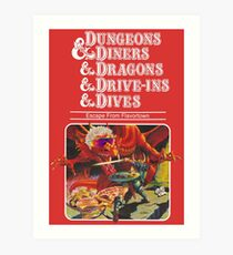 Dungeons & Diners & Dragons & Drive-Ins & Dives: Escape from Flavortown Art Print