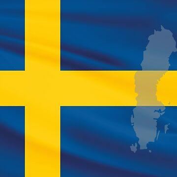 Sweden Flag by NeedThreads