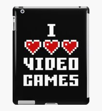 I Love Video Games - Dark iPad Case/Skin