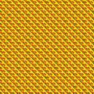 Stylized Diamond Pattern - Yellow by Buckwhite