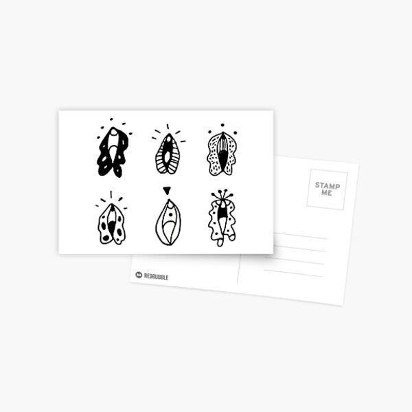 Vulva Flowers Postcard