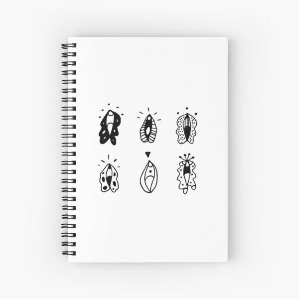 Vulva Flowers Spiral Notebook