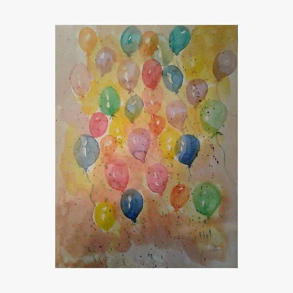 Lancé de ballons Impression photo