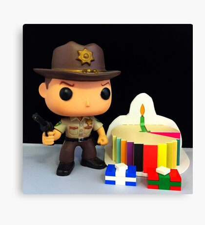 Rick Grimes Birthday Canvas Print