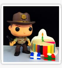 Rick Grimes Birthday Sticker