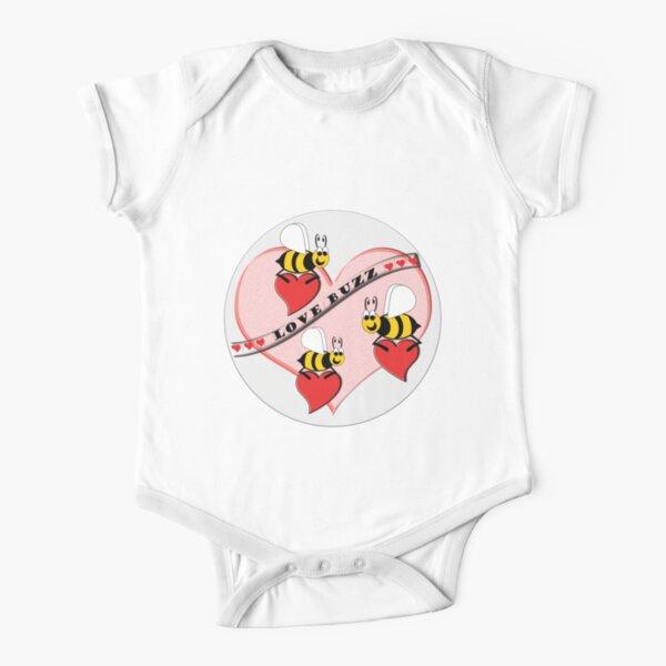 Love Buzz Short Sleeve Baby One-Piece