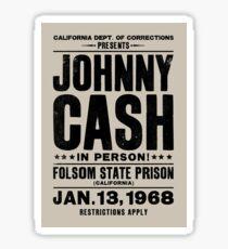 Johnny Cash at Folsom Sticker