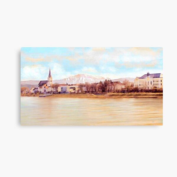 Ybbs an der Donau mit Oetscher Canvas Print