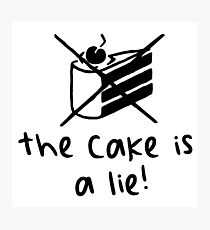 The Cake Is A Lie - Light Photographic Print