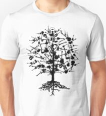 Guitars Tree Roots Unisex T-Shirt