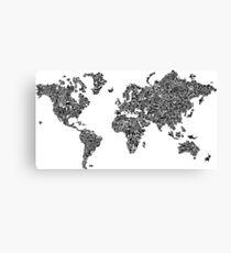 Weltkarte der Stereotypen Leinwanddruck