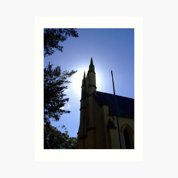 Whittlesea church tower Art Print