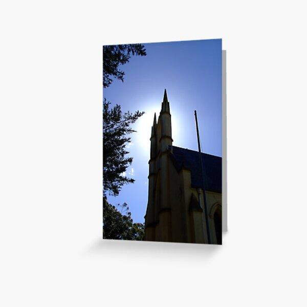 Whittlesea church tower Greeting Card