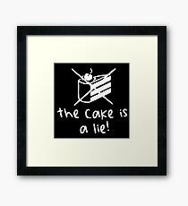 The Cake Is A Lie - Dark Framed Print