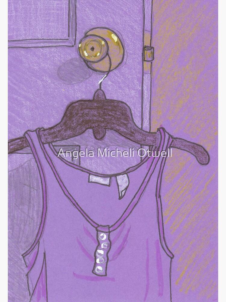 Purple Tank Top Hanging on a Doorknob by ByFitsAndStarts