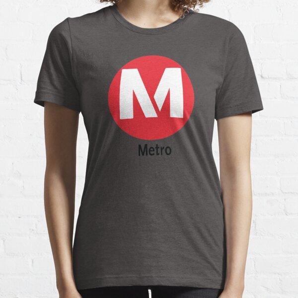 Red Line Metro Los Angles California Los Angles Raised Me Essential T-Shirt