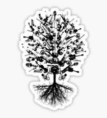 Musical Instruments Tree Sticker