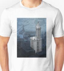 Smith Tower Map, Twilight Unisex T-Shirt