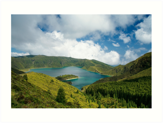 Fire Lake, Azores by Gaspar Avila