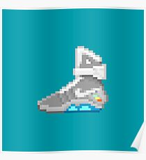 Self-lacing Shoe Back from the Future 8-Bit Pixel Art Poster